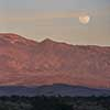 Moonrise over Mesquite Dunes