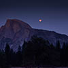 Blood Moon with Half Dome