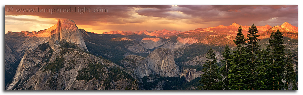 Storm Light with Half Dome