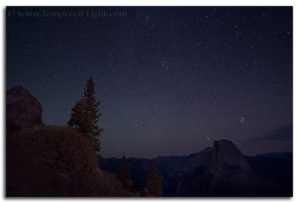 Perseid & Pleiades from Glacier Point